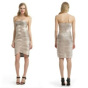 BCBG Beverly dress in champagne color SZ 10